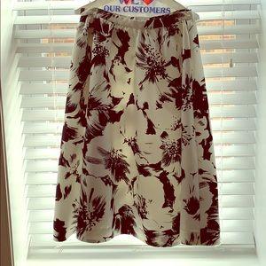 Parker Full Bloom Skirt black/white floral size 8